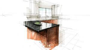 Marker Rendering Interior Design Tutorial Hand Rendering Interior 160416 Kitchen Detail