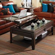 cherry finish lift top coffee table