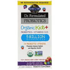 garden of life dr formulated probiotics organic kids probiotics vitamins c d tasty organic berry cherry 5 billion 30 yummy chewables iherb