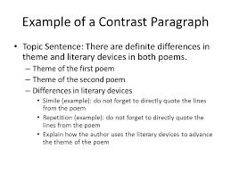Comparison And Contrast Essay Example Contrast Comparison Essay