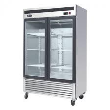 413 2 glass door commercial refrigerator atosa mcf8707
