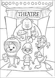 Chicken Little Abbey Billy En Vis Op Het Droge In Het Theater