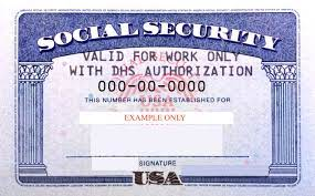DHS Annotated US Social Security Card ...