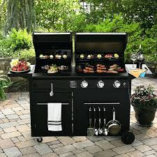 gas grill and griddle combo image of outdoor