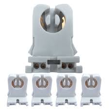 Fluorescent Light Tombstones Non Shunted Turn Type 4 Pack Ul Listed T8 Lamp Holder Tombstone Sockets Led Fluorescent Tube