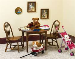 amish made kids windsor table and chairs set