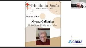 Ministerio de Emaús - Nuestro homenaje a Myrna Gallagher, fundadora de los  retiros de Emaús | Facebook
