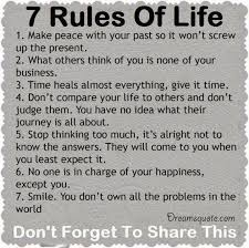 Motivational Quotes About Life Positive quotes about life ' The 100 Rules of Life deep inspirational 54
