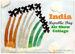 India Republic Day Air Show Collage Craft Artsy Craftsy Mom