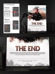 Movie Poster Design Template The End Movie Poster Flyer Ii By Pro Gh On The End Movie