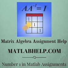matrix algebra assignment help matlab help matlab assignment  matrix algebra assignment help matlab help