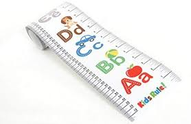 Kids Rule Alphabet Plastic Roll Up Height Measuring Chart Measures From Birth To Adult Choice Of 3 Bright Designs