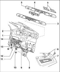 exploded view of the rear hatchback door lock embly carrier 1 exterior handle embly 2 door handle trim 3 handle 4 door handle lever 5