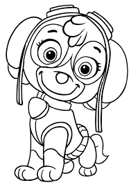 Skye Coloring Pages Colouring