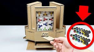 how to make fidget spinner vending machine using coins diy cardboard vending machine list king