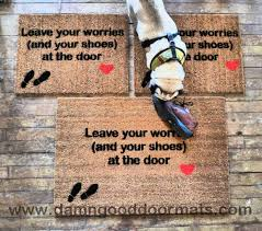 Leave your worries (and your shoes) at the door- Doormat. Keep ...