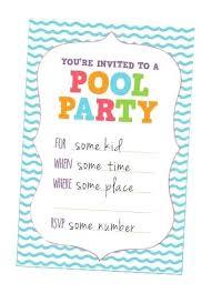 Swim Party Invitations Invitation Cards