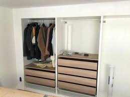 ikea pax closet built in wall of even put plaster around it to create