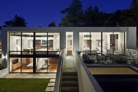 view modern house lights. Perfect Lights Mesmerizing Ideas For Minimalist Interior Design Transparent With  Glass Exterior And Modern Lighting Intended View House Lights