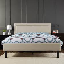 Zinus Taupe Queen Upholstered Bed