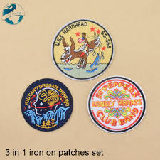 Designer Iron On Patches 3 Mixed Designs Iron On Patches Set Diy Appliques Set
