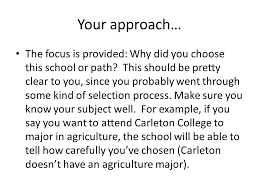 what do colleges want to know this information is based on the  6 your approach