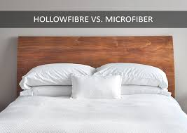 hollowfibre vs microfibre pillows