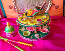 Mehndi Tray Decoration East meets west Mehndi plate by lesley rizvi at Mehndi trays for 14