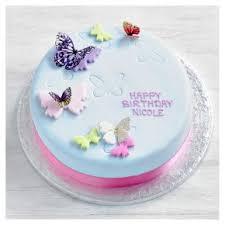 Fiona Cairns Butterflies Birthday Cake Waitrose Partners