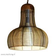 Geometrische Design Draadhanglamp Van Gevlochten Ijzerdraad