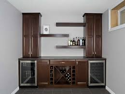 home bar furniture ideas. enchanting modern small bar design for home with dark brown wood material on combined beautiful glass door storage and cool hanging shelves white wall furniture ideas