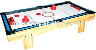 Air Hockey Table Tennis Wooden 3 In 1 Game Including Pool Strikeworth Multi