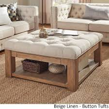Wonderful Lennon Pine Square Storage Ottoman Coffee Table By Amazing Pictures
