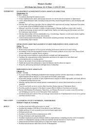 Accounting Associate Resume Implementation Associate Resume Samples Velvet Jobs 12