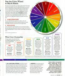 Use The Color Wheel to Mix & Match