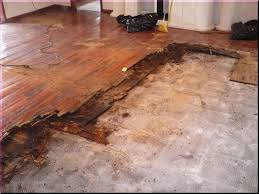 image of concrete slab basement flooring