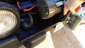 badlands winch mounted to 2003 jeep wrangler tj