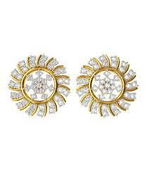 Diamond Earrings Traditional Designs Bluecarats 18k Gold Bis Hallmark Diamond Gemstone