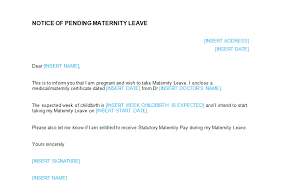 Maternity Leave Application Letter After Delivery Custom Paper