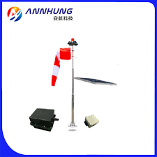 Windsock Pole Lights Heliport Solar Wind Cone Solar Airport Lighting Icao