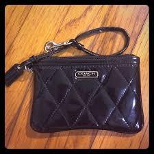 88% off Coach Handbags - Small Black Coach Patent Quilted Wristlet ... & Small Black Coach Patent Quilted Wristlet Adamdwight.com