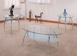 glass living room table sets. 3pc chrome w/glass coffee table set glass living room sets f