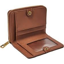 las brown emma rfid mini multifunction leather purse