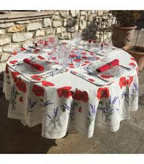 coated cotton round tablecloth