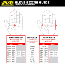 Bowling Glove Size Chart Mechanix Gloves Size Guide Skillful Military Glove Size Chart