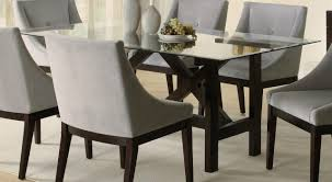 Dining Room, Glass Dining Room Sets Round Glass Kitchen Table Grey Chairs  Table Plate Fruit