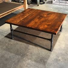 reclaimed wood coffee table with metal rustic rectangle barnwood appealing