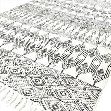 black white rugs modern cotton block print area accent rug bohemian flat cot e 1 large black and white rugs