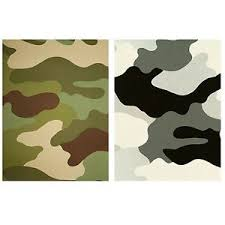 Image Is Loading CAMOUFLAGE WALLPAPER 10M KHAKI GREEN GREY BLACK ARMY