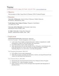 Mba Resume Sample Resumes Samples For Freshers Free Download